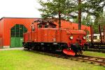Die ex SJ 780 im Bahnmuseum von Norrbotton/S