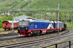 Die TRAXX H80 AC 105 der Erzbahn trifft im Erzhafen von Narvik/N ein
