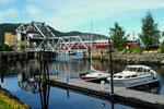 Skansenbrücke als Klappbrücke in Trondheim/N