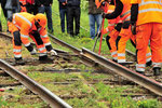 Verlegen der Bahnstreckengeleise an das Zufahrtsgeleis des ehemaligen Armee-Depots von Litsnäset/S.