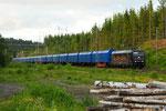 Holzschnitzelzug der Rush Rail in Rämshyttan/S