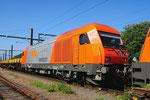RTS Rail Swietelsky 2016 908-3 mit Bauzug in Padborg/DK