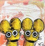 Jumelles 8''x8'' on canvas