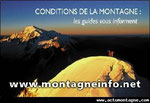 Les conditions en montagne par les guides