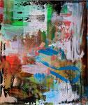 FARBSCHICHTUNG KARMIN-COELIN, 2011, Acryl auf Leinwand, 95 x 80 cm