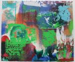 BLAU GRÜN, 2015, Acryl auf Leinwand, 30 x 35 cm