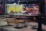 STILL YOUNG IS THE NIGHT, 2013, Öl auf Leinwand, 135 x 200 cm