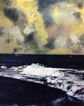 O. T. (MORUROA II), 2017, Acryl und Öl auf Leinwand, 150 x 120 cm