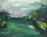 Kleine grüne Landschaft I 2017 Öl /Leinwand 40 x 50 cm