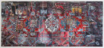 Arjan van Helmond, RUG #2, 2014, Tinte, Gouache und Acryl auf Papier, 365 x 165 cm