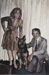 Blanca Amorós, RETRATO DE FAMILIA, 2016, Öl auf Leinwand, 60 x 40 cm