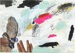 RECOLLECTING DREAMS, 2015, Mischtechnik auf Papier, 30 x 42 cm