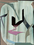STREAM IV, 2015, Öl auf Glas auf MDF, 40 x 30 cm