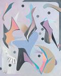 JESTER, 2017, 150 x120 cm, Öl und Mischtechnik auf Leinwand