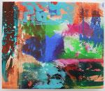BLAU ORANGE, 2015, Acryl auf Leinwand, 30 x 35 cm