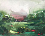 Kleine grüne Landschaft III 2017 Öl /Leinwand 40 x 50 cm