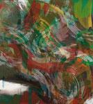 ENERGIEFELD KADMIUMROT-KADMIUMGRÜN, 2013, Acryl auf Leinwand, 135 x 120 cm