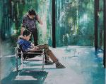 Koen Vermeule, WINDFLOWER, 2016, Öl auf Leinwand, 80 x 100 cm