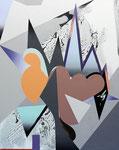 JABBERWOCKY, 2017, Öl und Acryl auf Leinwand, 150 x 120 cm