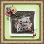 """Cuadro 7""""x7"""" con un lindo detalle de almohadon en relieve Se puede colgar en la pared o ponerse sobre una mesa  o aparador. $13 - exclusivo y original)"""