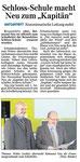 """12.11.2012 Schloss-Schule macht Neu zum """"Kapitän"""""""