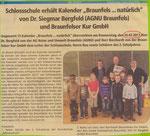07.03.2011 Braunfels Kalender für die Schule (Schaufenster Solms-Braunfelser Land)