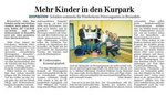 16.09.2013 Mehr Kinder in den Kurpark (WNZ)