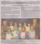 Lesewettbewerb der Schloss-Schule November 2013 (Braunfelser Stadtnachrichten)