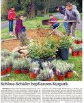 Schloss-Schüler bepflanzen Kurpark (WNZ 21.04.2016)