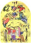 """""""Levi"""", Farblithographie von Charles Sorlier nach Chagalls Entwürfen zu den Glasfenstern von Jerusalem, 1962"""