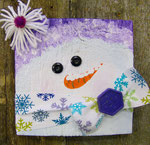 Wood Block Snowlady