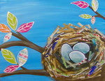 Bird Nest Mixed Media