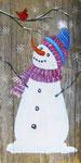 Snowman on Wood