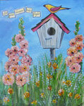 Birdhouse1 Mixed Media