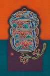 ⑨牡丹重箱とサルトリイバラ
