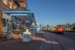 Borkum: Bahnhof der Kleinbahn