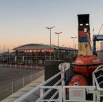 Fähranleger (Borkum) der AG-Ems im Hafen von Emden