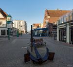 Borkum - Fußgängerzone und Haus Seeblick