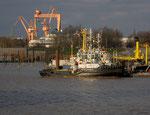 Borkum - Fähranleger der AG-Ems im Hafen von Emden