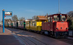 Borkum - Bahnhof der Kleinbahn in der Fußgängerzone
