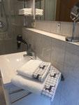 Dusche/Badewanne/Handtuchheizkörper/Kosmetikspiegel/Fön etc.
