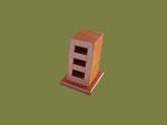 REF. 1214A1 ORGANIZADOR  MEMORIA USB  PVP 19  €. gastos de envío incluidos CHAPA DE HAYA TEÑIDA medidas  BASE 6'5 X 6'5 cm. ALTURA 9 cm.DISPONIBLE