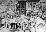 Salamanca, Zeichnung, 1974 - © Copyright 2014 by HEINRICH BETZ, Rheinland-Pfalz/Saarland | Alle Rechte vorbehalten