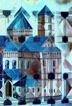 Dom zu Speyer, Tafelbild nach Bauplan (Detail), 2002 - © Copyright 2014 by HEINRICH BETZ, Rheinland-Pfalz/Saarland | Alle Rechte vorbehalten