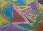 Nr. 2019-35; Dreiecke, Pastell, A4, Zeichenkarton