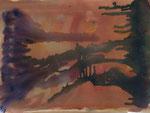 Nr. 2019-13; Landschaft, Aquarell, 36x48, Zeichenkarton