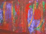 Nr. 2019-24; Farbenspiel, Acryl, gespachtelt, 36x48, Zeichenkarton