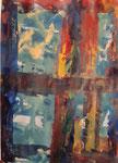 Nr. 2019-44; Farbenspiel 2, Acryl, gespachtelt, 30x30, Zeichenkarton
