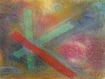 Nr. 2018-64; Farbenspiel in Pastell, Pastellkreide, A3, Zichenkarton