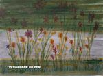 Nr.: 2018-10; Blumen im Schatten, Tusche, A3, Papier